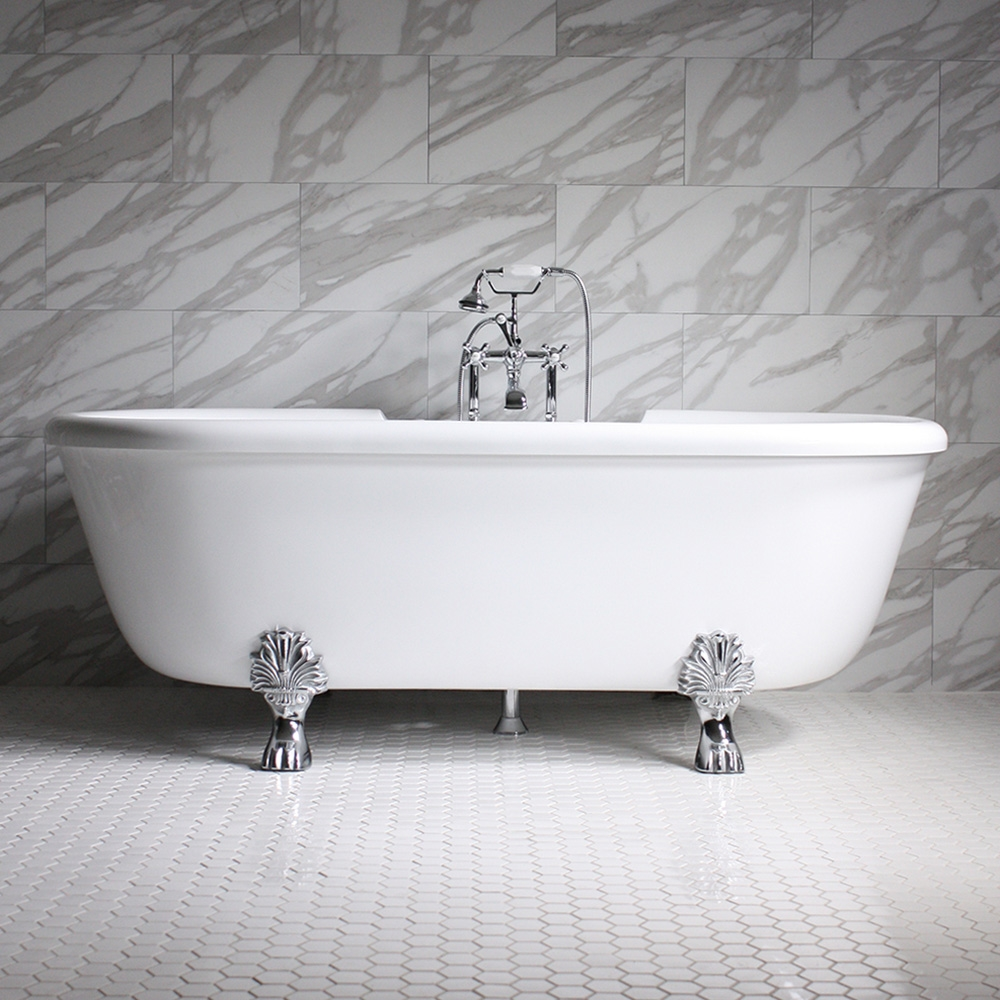 Empress EM75N 75 Water Air Spa Jetted Double Ended Clawfoot Tub P