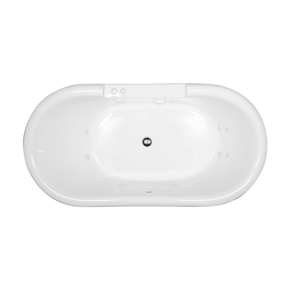 Ss75w 75 Quot Sansiro Water Jetted Double Ended Clawfoot Tub